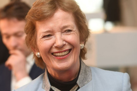 Mary Robinson, former Irish president and founder of the Mary Robinson Foundation on Climate Justice