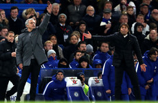 Conte takes aim at 'senile' Mourinho over touchline 'clown' remark