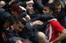 Diego Costa sent off for Atlético seconds after scoring on La Liga return