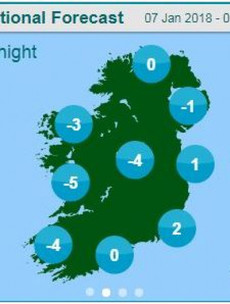 Status Orange cold warning issued for most of the country as freezing temperatures set to hit