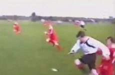 Golden footage of 12-year-old Katie Taylor putting in a crunching tackle emerges