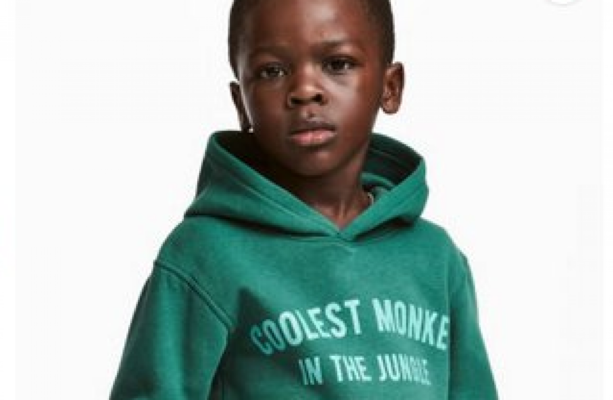 d86cf782d41c H M issues apology after using image of black child wearing  monkey ...