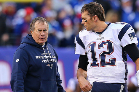 Bill Belichick insists he still has a good relationship with Tom Brady.