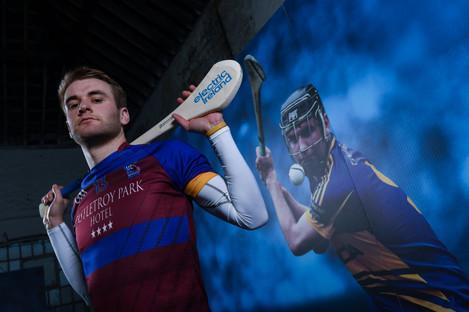 Tipp hurler John McGrath at the Electric Ireland GAA Higher Education Championships First Class Rivals Launch.