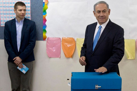 Israeli Prime Minister Benjamin Netanyahu, right, pictured with his son Yair in 2015