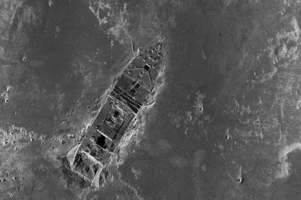Amazing Titanic Wreck Photo of Bow on Ocean Floor PHOTO Disaster Wreckage