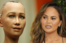 Chrissy Teigen made fun of Sophia the Robot's makeup and received a terrifying response from the robotic woman