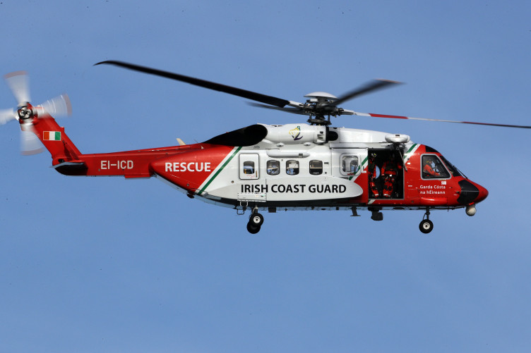 File photo of an Irish Coast Guard helicopter