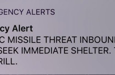 Message warning people about 'ballistic missile threat' in Hawaii was sent in error