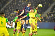 French ref under fire for crazy player kick in last night's game between Nantes and PSG