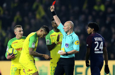 'This clumsy gesture was inappropriate': French ref apologises for kicking and sending off defender