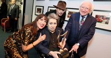 Michael D presents Shane McGowan with lifetime award on emotional evening