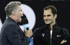 'Are you a vampire?' - Ron Burgundy interviewed Roger Federer after his Australian Open win