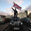 Taxi drivers block London Bridge for hours in protest over Uber