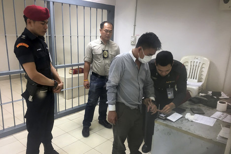 Police process suspected wildlife trafficker Boonchai Bach