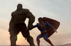 WATCH: Superman takes on the Hulk