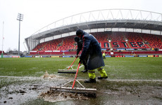 Munster's Champions Cup clash with Castres delayed due to heavy rain in Limerick