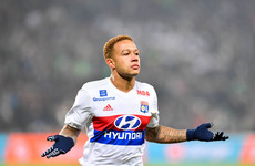 Ex-Man United player Depay scores wondergoal to down PSG as Mbappe stretchered off