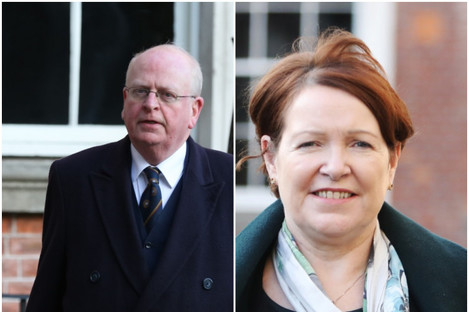 Maurice McCabe's counsel Michael McDowell (l) and Nóirín O'Sullivan
