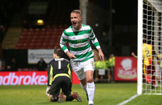 Ex-Ireland international on target, before Thistle stung by Celtic in Glasgow derby