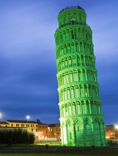 'Greening Tower of Pisa' among latest landmarks turning green on March 17