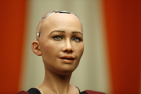 Sophia, a life-like humanoid robot made in the nUS.
