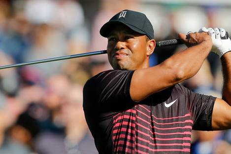 Tiger Woods in action at Torrey Pines.