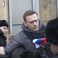 Russian opposition leader arrested during anti-Putin protests
