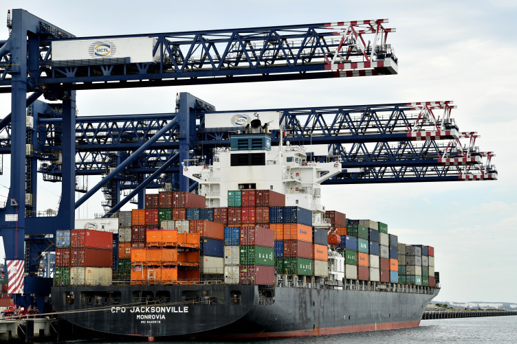 Stock image of shipping containers.