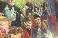 An Irish pub in Edinburgh has unveiled a *huge* mural dedicated to Father Ted