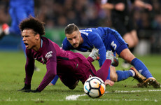 Manchester City suffer Leroy Sane blow