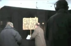 BBC editor flips out, destroys protest sign (video)