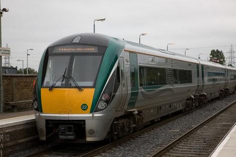 File photo of an Irish Rail train.