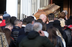 Priest condemns 'reign of violence and total disrespect for human life' at funeral of murdered Derek Hutch