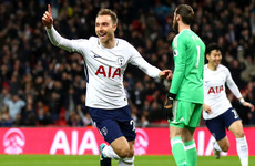 Eriksen nets after 11 seconds as Spurs dominate dismal United at Wembley