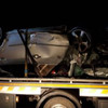 Driver arrested on suspicion of drink driving after totalling car in collision