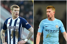 'The ball wasn't in the neighbourhood' - De Bruyne slams James McClean tackle attempt
