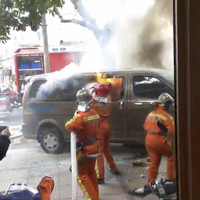 Police blame incident involving van in flames crashing into 18 pedestrians on 'smoking driver'