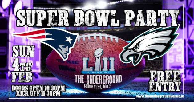 Where can you watch Super Bowl LII in Ireland if you're going out?