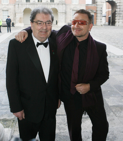 John Hume (left) beat Bono and three others in the final stage of RTÉ's 'Ireland's Greatest' poll.
