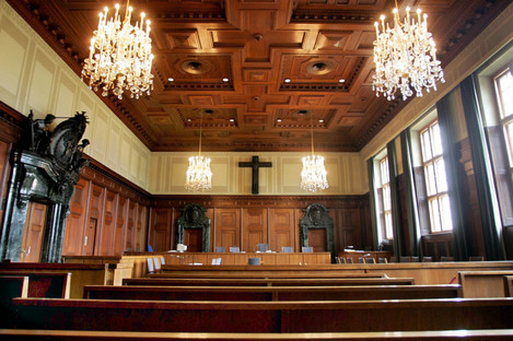 The courtroom where the Nuremberg trials took place.