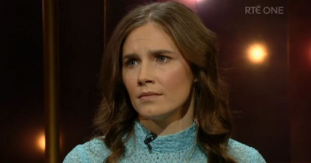 Amanda Knox talked prison and redemption and then sang an Irish rebel song on Ray D'Arcy last night