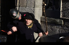"""Votes for women!"": Suffragette's granddaughter returns to smash windows at Dublin Castle"