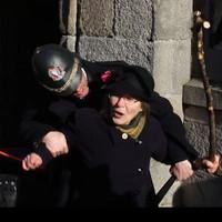 """Votes for women!"": Suffragette's granddaughter returns to smash windows at Dublin Castle"
