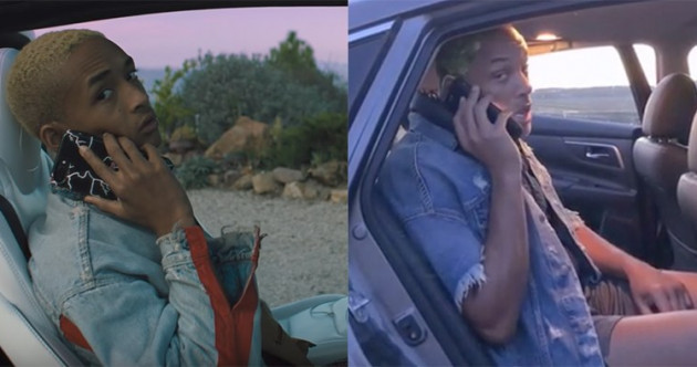 Will Smith took the mick out of son Jaden by recreating one of his music videos