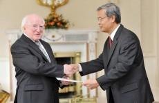 Mr President I presume? Three new ambassadors present credentials at the Áras