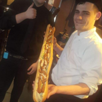 A Finglas pub are challenging customers to eat their ridiculously huge new chicken fillet roll