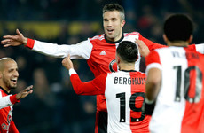 Watch: Ex-Man United striker Van Persie takes 50 seconds to score first Feyenoord goal in 14 years