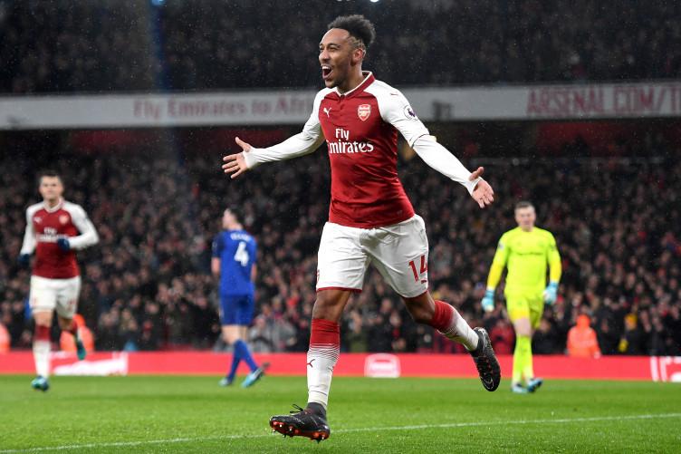 Arsenal's record-signing Pierre-Emerick Aubameyang.