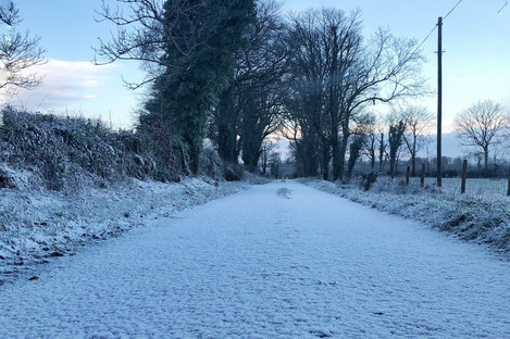 The scene in Roscommon this morning.